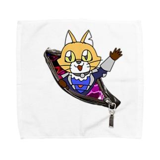 異世界チャックキャットC Towel handkerchiefs