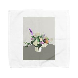 初夏のお花 Towel handkerchiefs