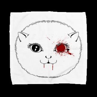 Rockin' & Novelのバンパイア猫 Towel handkerchiefs
