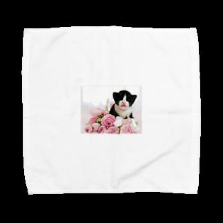 保護猫活動家すみパンさん家への支援グッズ!のNo.1 ゆずちゃん Towel handkerchiefs
