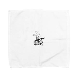 BeginnerS らびっと!スケルトン Towel handkerchiefs