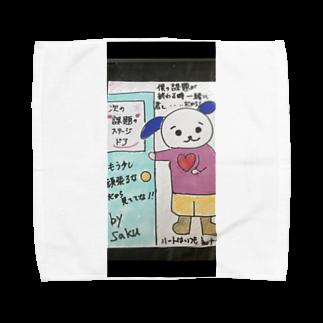 サクアンドツバミルヨシのステージの扉ツインデザイン Towel handkerchiefs