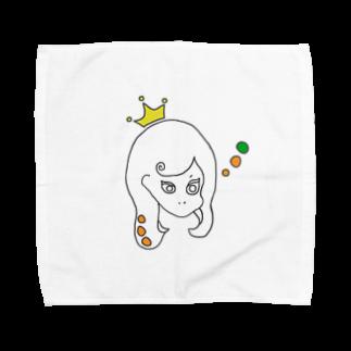 Kuma_tsuのつり目な姫 Towel handkerchiefs