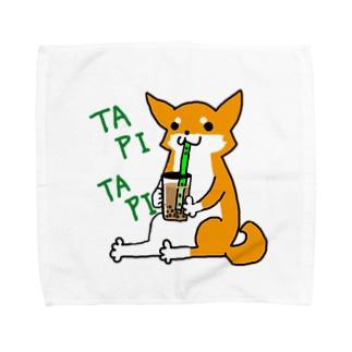 タピタピ柴さん(赤柴) Towel handkerchiefs