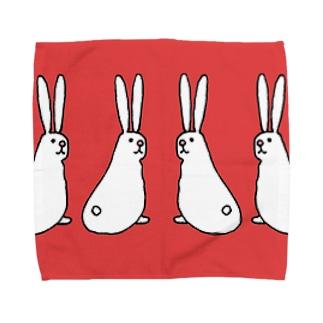 ふりかえりうさぎ Towel handkerchiefs