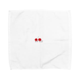さくらんぼネコ Towel handkerchiefs