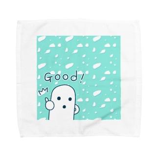 白いハニワ【Good!】 タオルハンカチ