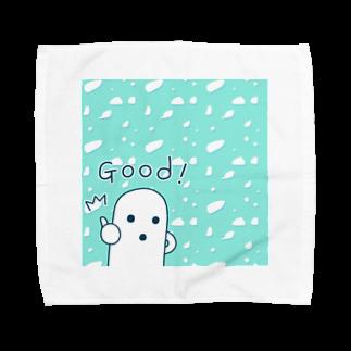 陽崎杜萌子@LINEスタンプ販売中の白いハニワ【Good!】 Towel handkerchiefs