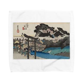 藤澤 (遊行寺) 東海道五十三次 (保永堂版) 歌川広重 Towel handkerchiefs