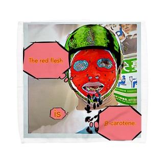 The red flesh is β-carotene. Towel handkerchiefs