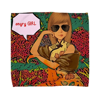 angry GIRL Towel handkerchiefs