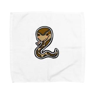 のんびりポールパイソン Towel handkerchiefs