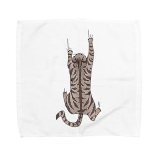 飛び付き猫 Towel handkerchiefs