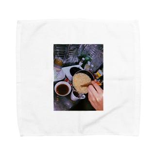 夜中のラーメン Towel handkerchiefs