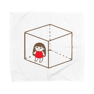 とじこめねねこ Towel handkerchiefs