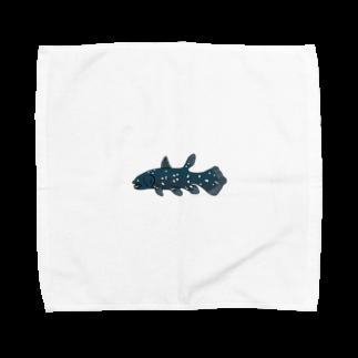 ki-yanのシーラカンス Towel handkerchiefs