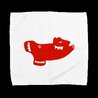 KashikoiのSkating Polar Bear Towel handkerchiefs