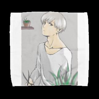 hentouの植物と男の子 Towel handkerchiefs