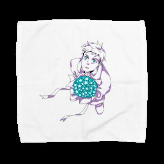 hentouの花束と男の子 Towel handkerchiefs