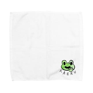 ほがらかカエル Towel handkerchiefs