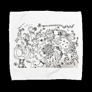 tomo4のモノ  クロ Towel handkerchiefs