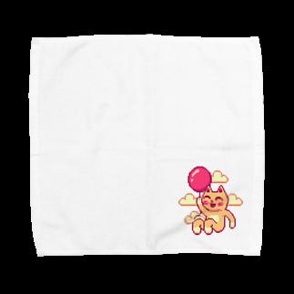 notteの浮遊するネコ Towel handkerchiefs