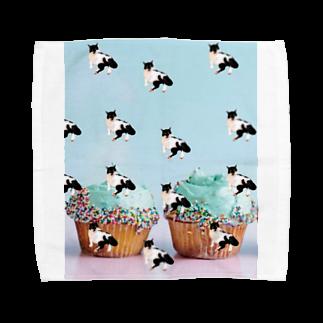 保護猫活動家すみパンさん家への支援グッズ!のNo.15 バットにゃんパターン♪ Towel handkerchiefs