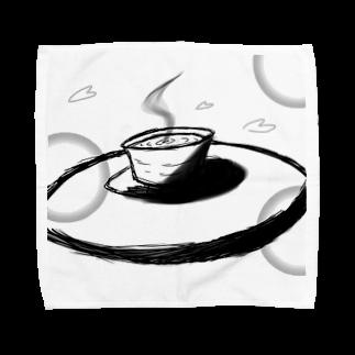 わっつぁる 雷猪の和茶っぽいコーヒー Towel handkerchiefs