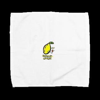 HIKO_kimamani のネオンのレモン Towel handkerchiefs