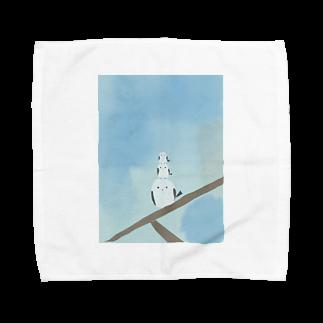 かな工房の連なるシマエナガさん Towel handkerchiefs