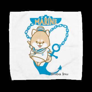 ラクガキメイトの柴犬 マリンルック Towel handkerchiefs
