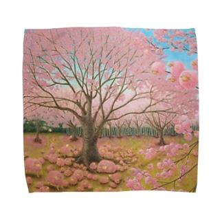 さくらひつじの開花 Towel handkerchiefs