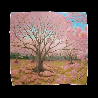 ひつじ好きの未草のギャラリーのさくらひつじの開花 Towel handkerchiefs