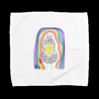 manamanawaruの虹とハシビロ Towel handkerchiefs