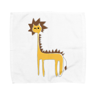 フクダナゴの長いライオン Towel handkerchiefs