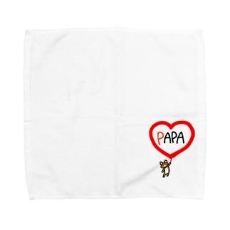 パパクマちゃん Towel handkerchiefs