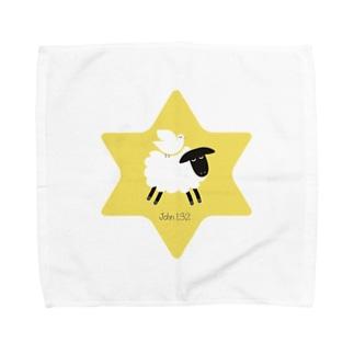 羊の上にとどまる鳩 Towel handkerchiefs