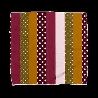 orange_honeyのストライプと水玉 Towel handkerchiefs