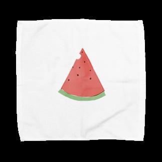 かな工房のまっかなすいか Towel handkerchiefs