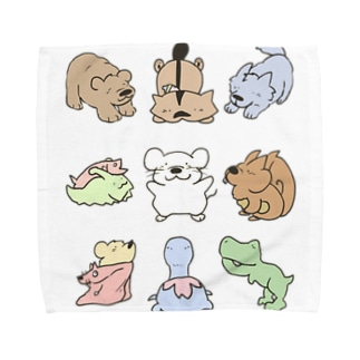 どうぶつたち第一弾 Towel handkerchiefs