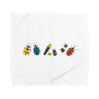 hananico***のカラフルポップなハムシ Towel handkerchiefs