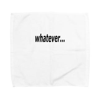 whatever... どうでもいい… Towel handkerchiefs