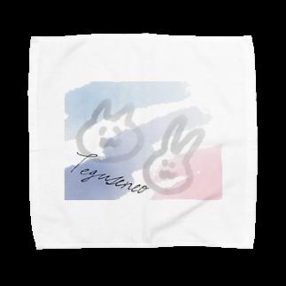 豆腐[ 'ω' ]の夏のてぐせねこ Towel handkerchiefs