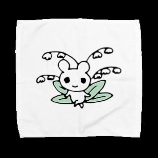 ねこりんストアのすずらんマウス Towel handkerchiefs