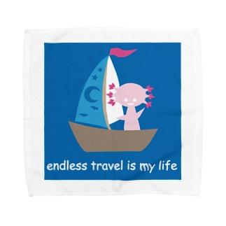 endless travel ウパロートルさん Towel handkerchiefs