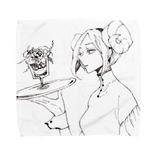 架空パフェ庵[夢喰の羊] Towel handkerchiefs