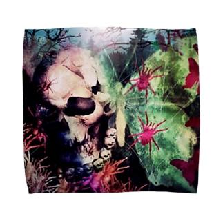 【パンクロック】骸骨ハンカチ Towel handkerchiefs