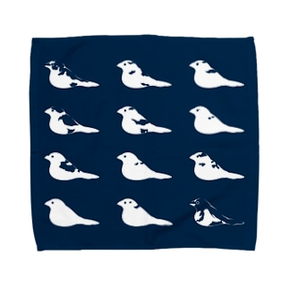 紺色十姉妹 Towel handkerchiefs