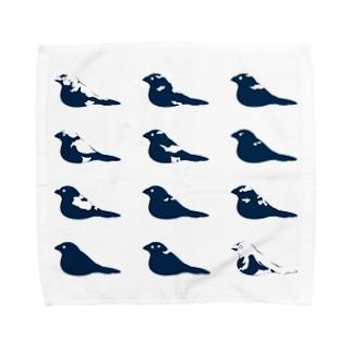 白色十姉妹 Towel handkerchiefs