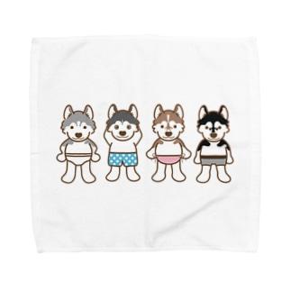 おパンツハスキー2 Towel handkerchiefs